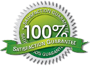 100 satisfaction guaranteed logo